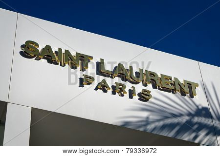 Saint Laurent Paris Retail Store Exterior