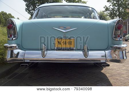 Vintage blue oldtimer car