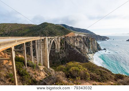 The Historic Bixby Bridge on the Pacific Coast Highway California Big Sur