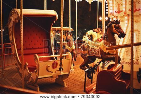 Carriage With Horse On Carousel