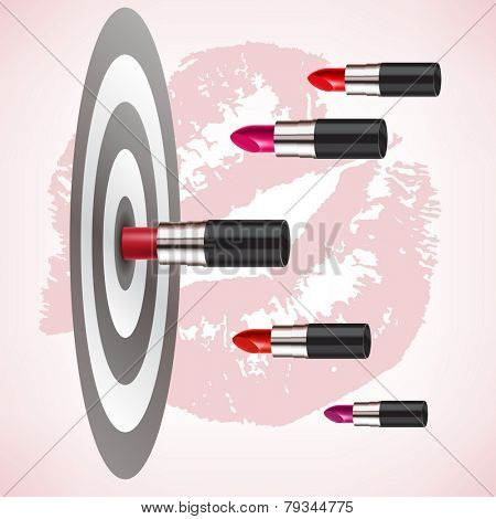 red lipstick hit the target accurately