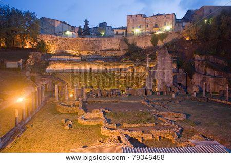 Roman Theater In Volterra