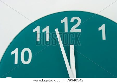 Clock Face Showing Two Minutes To Midnight