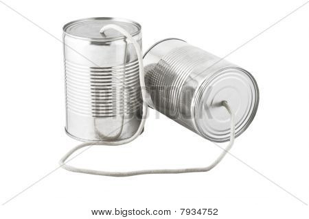 Cans Telephone Connected By String