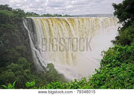 View of the Victoria waterfall in the Zambezi river, Zimbabwe, southern Africa