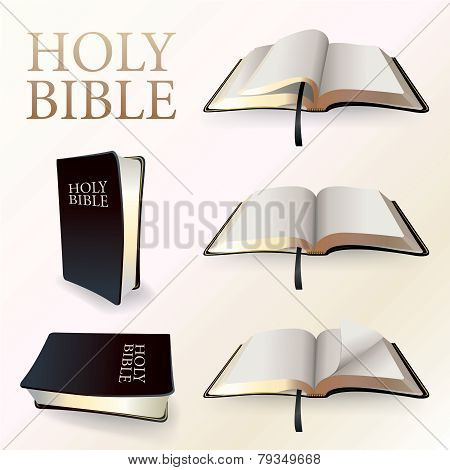Illustration Of Holy Bibles