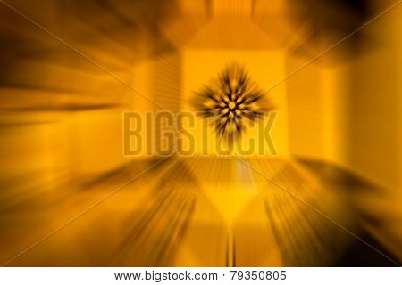 Yellow Color Stripe Radial Motion Blur Abstract