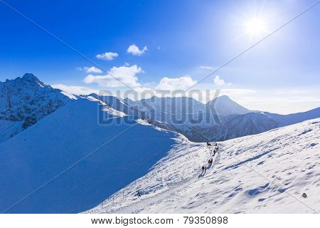 Tatra mountains in snowy winter time, Kasprowy Wierch, Poland