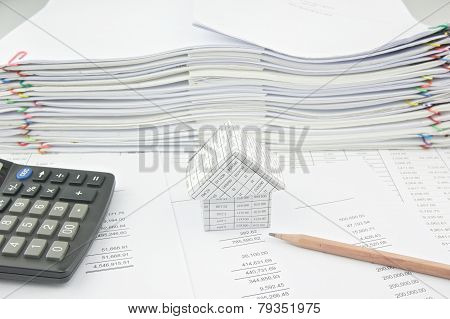 House On Balance Sheet And Pencil