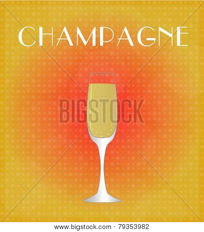 Drinks List Champagne With Red & Golden Background
