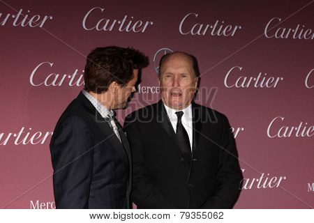LOS ANGELES - JAN 3:  Robert Downey Jr, Robert Duvall at the Palm Springs Film Festival Gala at a Convention Center on January 3, 2014 in Palm Springs, CA