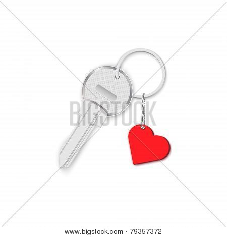Key With Heart On Chain