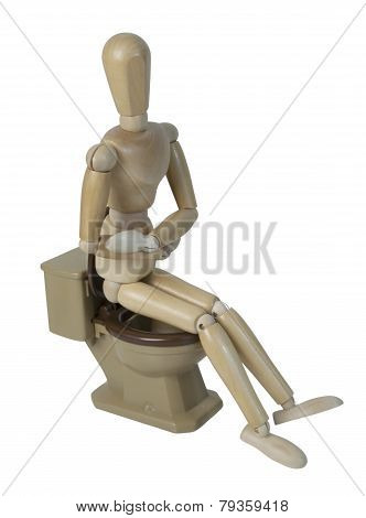 Sitting On Toilet With Pain
