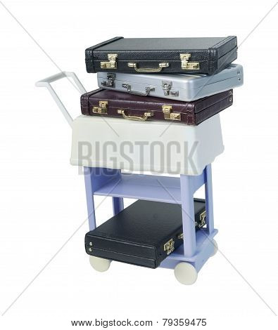 Briefcases On A Trolley