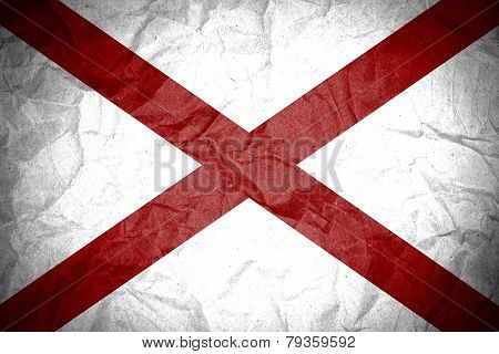 Grunge of Alabama flag.