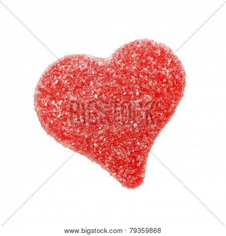 Isolated heart shaped candy