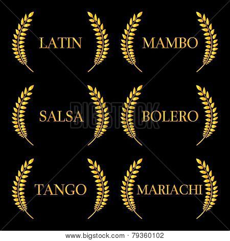 Golden Laurels Latin Music Genres: Mambo, Salsa, Bolero, Tango and Mariachi