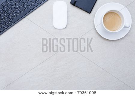 Cup Of Coffee On A Business Desk