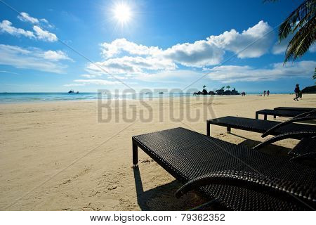 Beach View With Recliner In Boracay