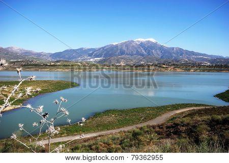 Lake Vinuela, Andalusia.