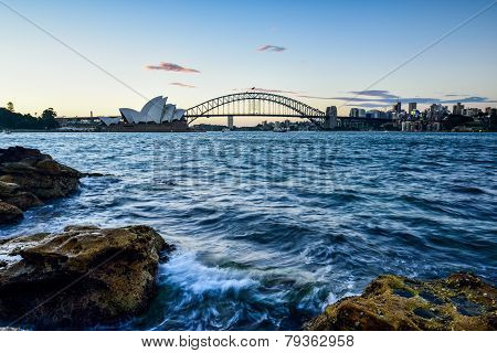 Sydney, Australia - December 29 , 2014 : Opera House And Harbour Bridge