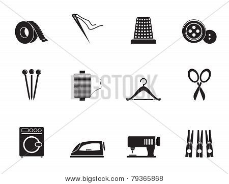 Silhouette Textile objects and industry icons