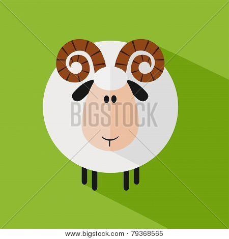Funny Ram Sheep