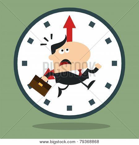 Panic Manager Running In A Clock Modern Flat Design