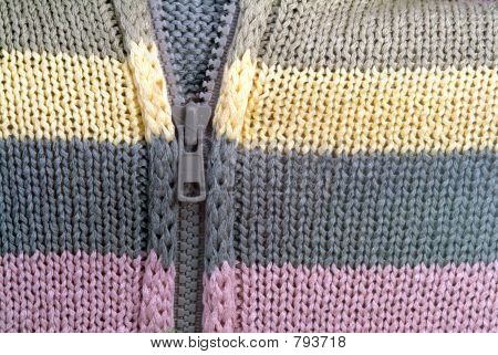 Colorful sweater details