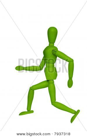 Green Wooden Dummy