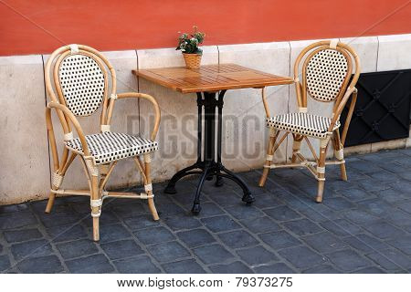Budapest, Hungary - June 27:   Street Terrace In Front Of The Cafe & Restaurant. Budapest Has Many C