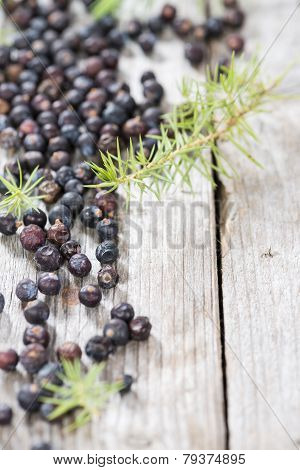Portion Of Dried Juniper Berries