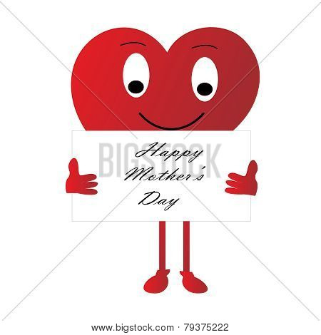 Cartoon Vector-Valentine Heart Cartoon Sign