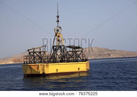 Buoy near the island of Tiran.