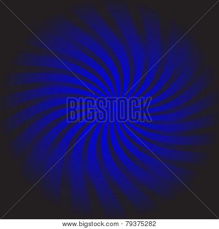 Background Vector-Bright Blue Swirl Over Black