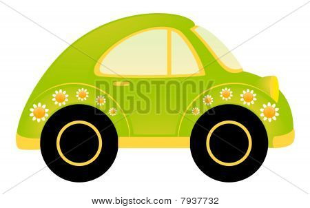 cartoon little car