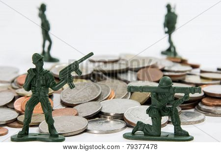 soldier toys with coins