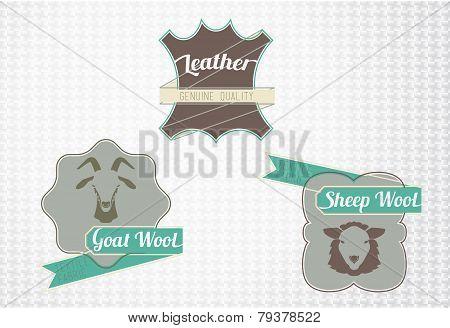 Textile fiber set
