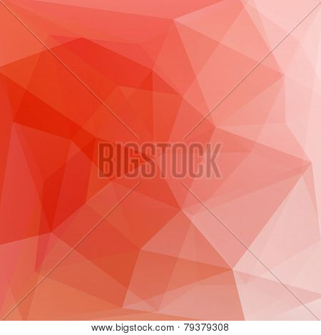 Orange Vector Abstract Background From Triangles