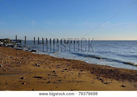 Essex Beach with blue sky