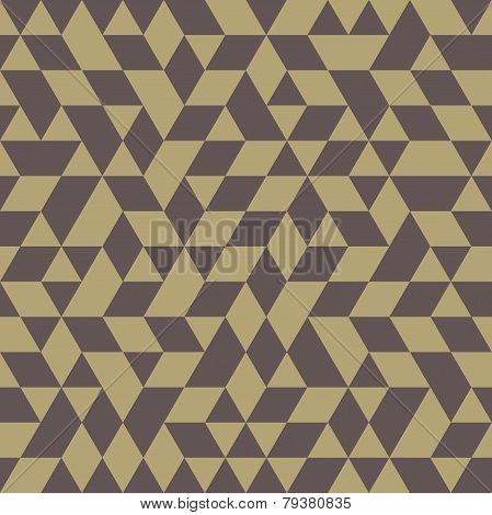 Geometric Seamless Vector Pattern with Golden Triangles