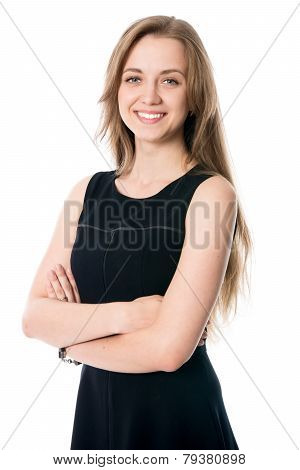 Portrait Of Young Cheerful Business Woman