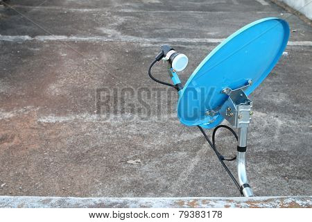 Blue Dish Satellite Receiver