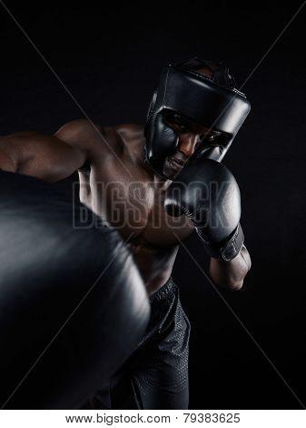 Shirtless Boxer Boxing