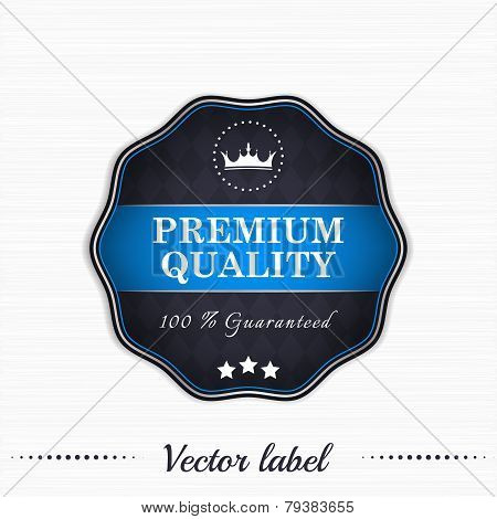 Premium quality guaranteed vector sale label with royal crown