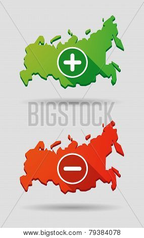 Russia Map Icon Set
