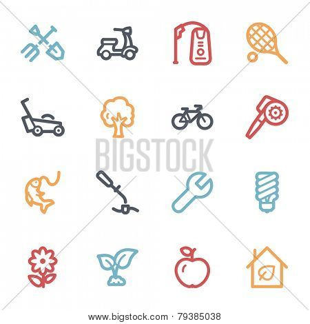 Gardening Equipment Web icons
