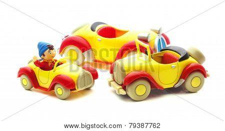 Three Noddy Cars