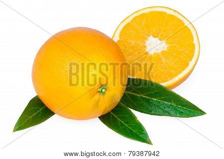 Orange Fruit and Half of Fruit