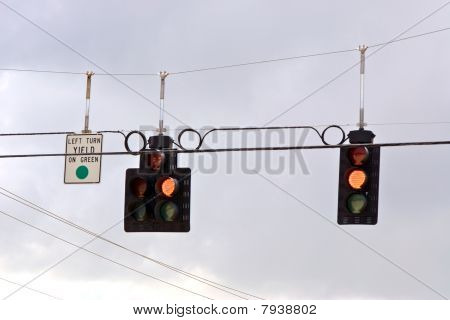 Trafic Stoplight Series Yellow Yield